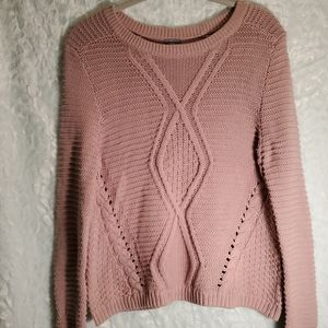 Charlotte Russe Cable Knit Sweater Size M